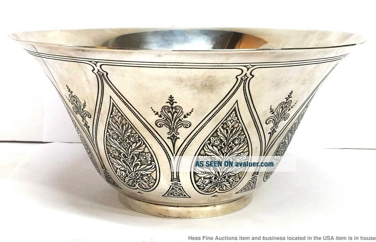 Tiffany Co Antique Arts Crafts Sterling Silver Massive Heavy Centerpiece Bowl