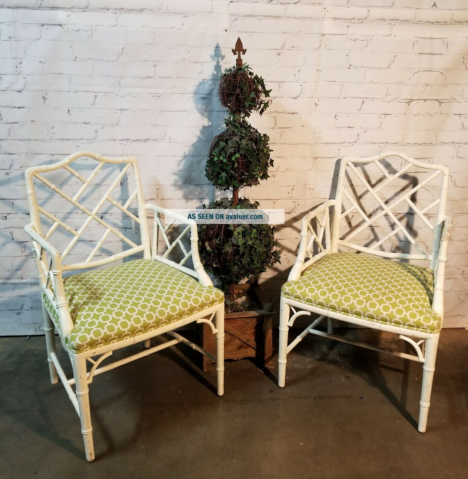 Chippendale Faux Bamboo Dining Chairs,  lacquered wood Chinese Chippendale