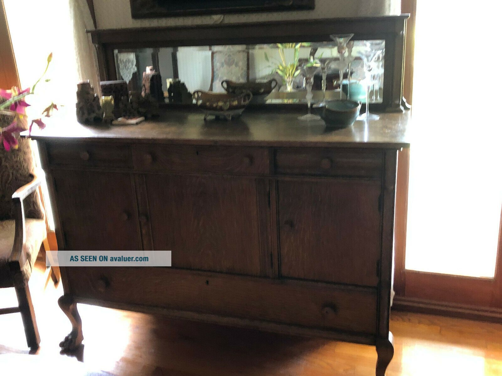 CH021: American Buffet Sideboard with Mirror Local Pickup