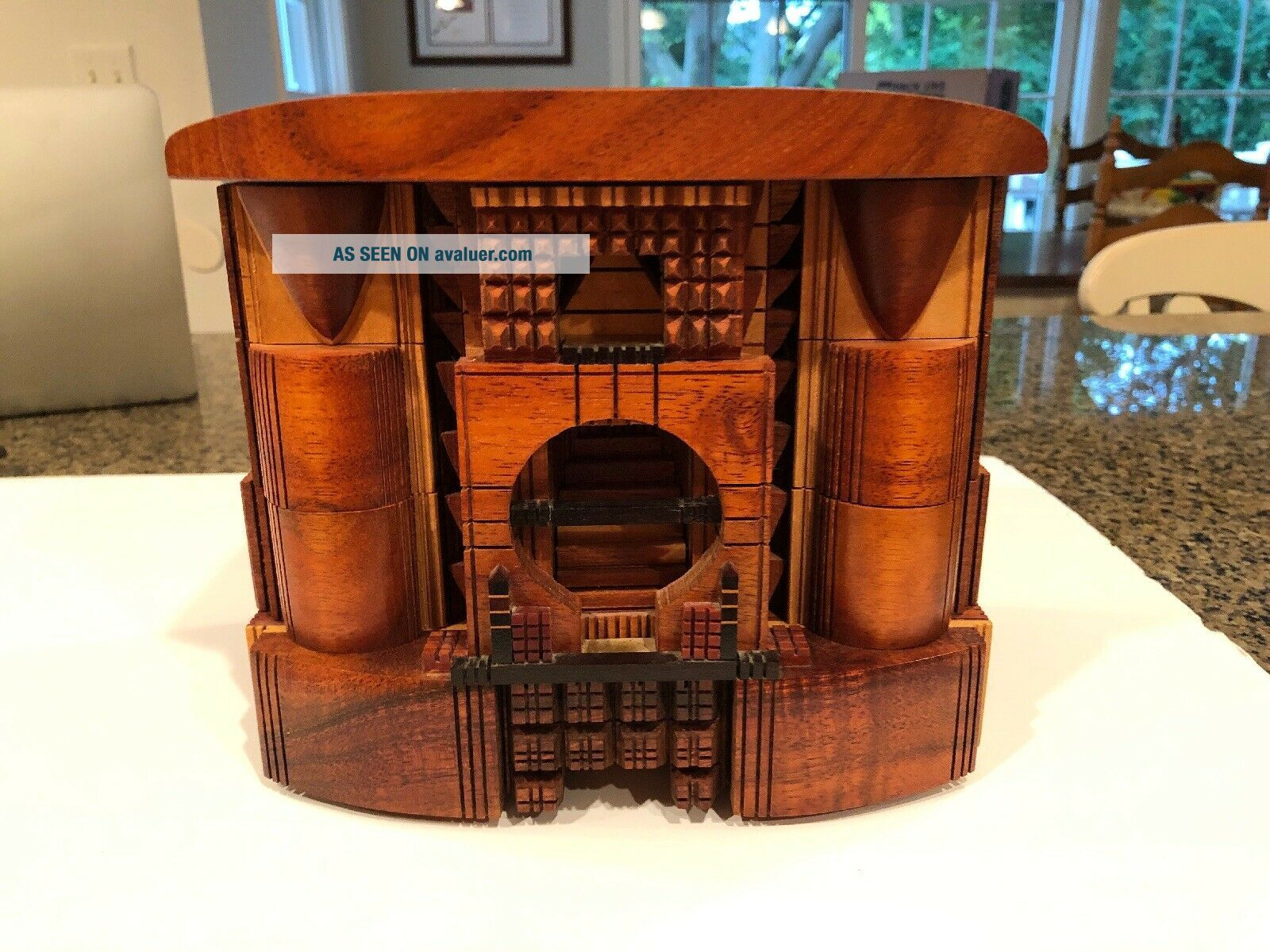 Po Shun Leong 1993 Hand Crafted Wood Jewelry Box Signed 1993