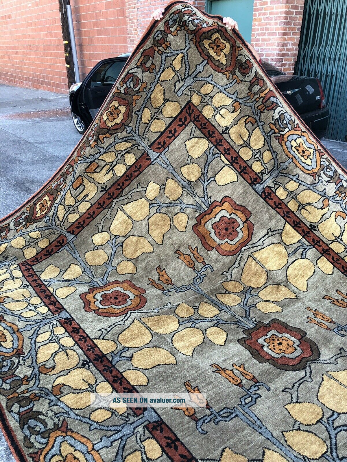Auth: Vintage Voisey Arts And Crafts Rug TOP Quality Tufenkian Beauty 9x12 NR