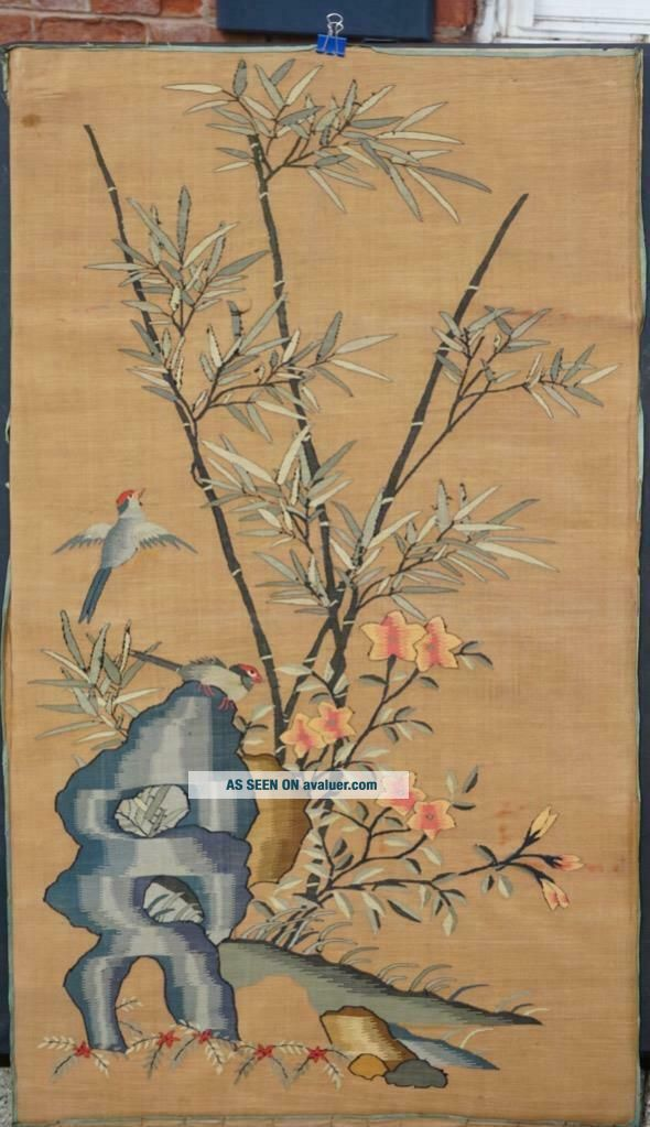 Large Chinese Kesi With Birds In Landscape,  1900