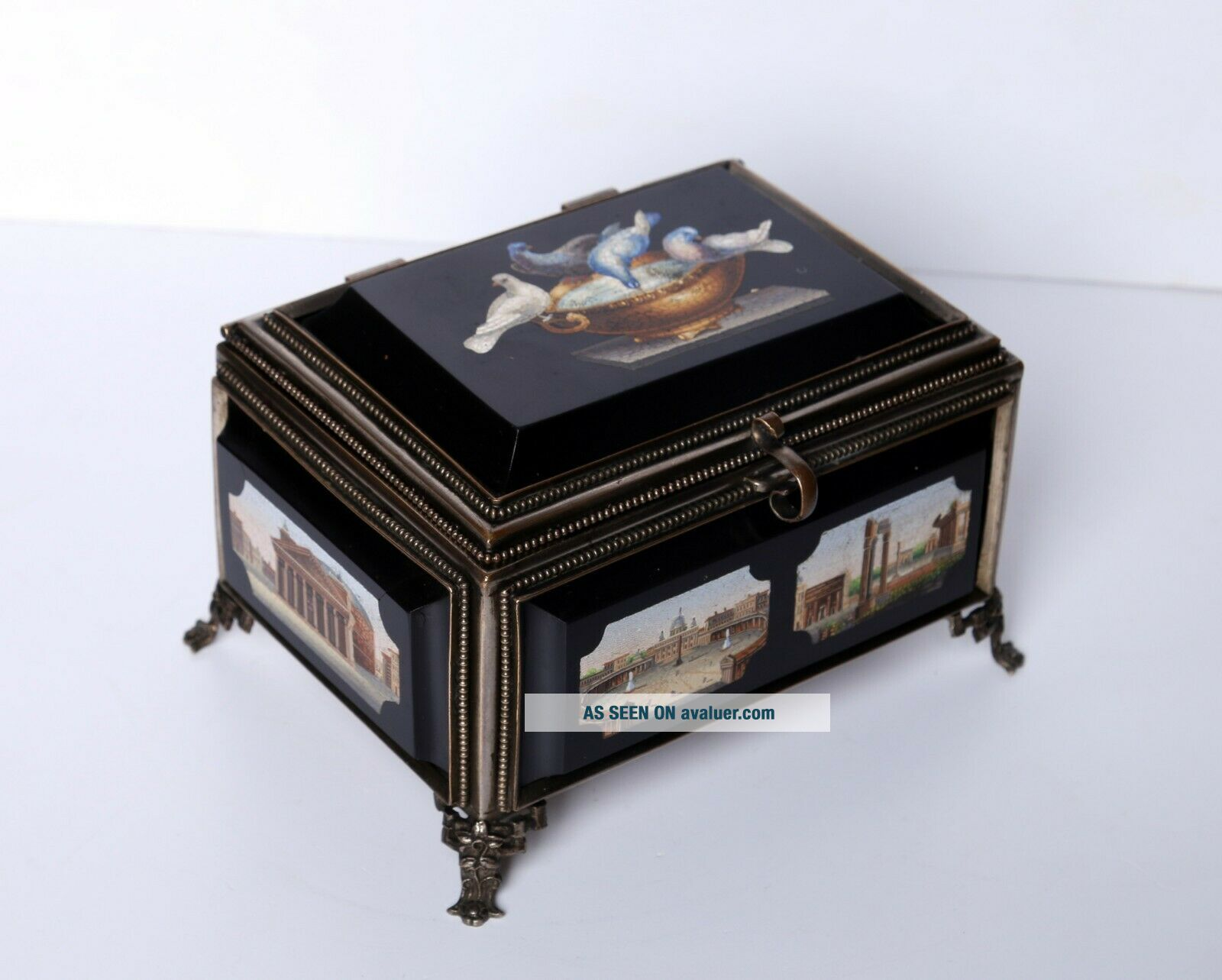 Antique Micro Mosaic Box Very