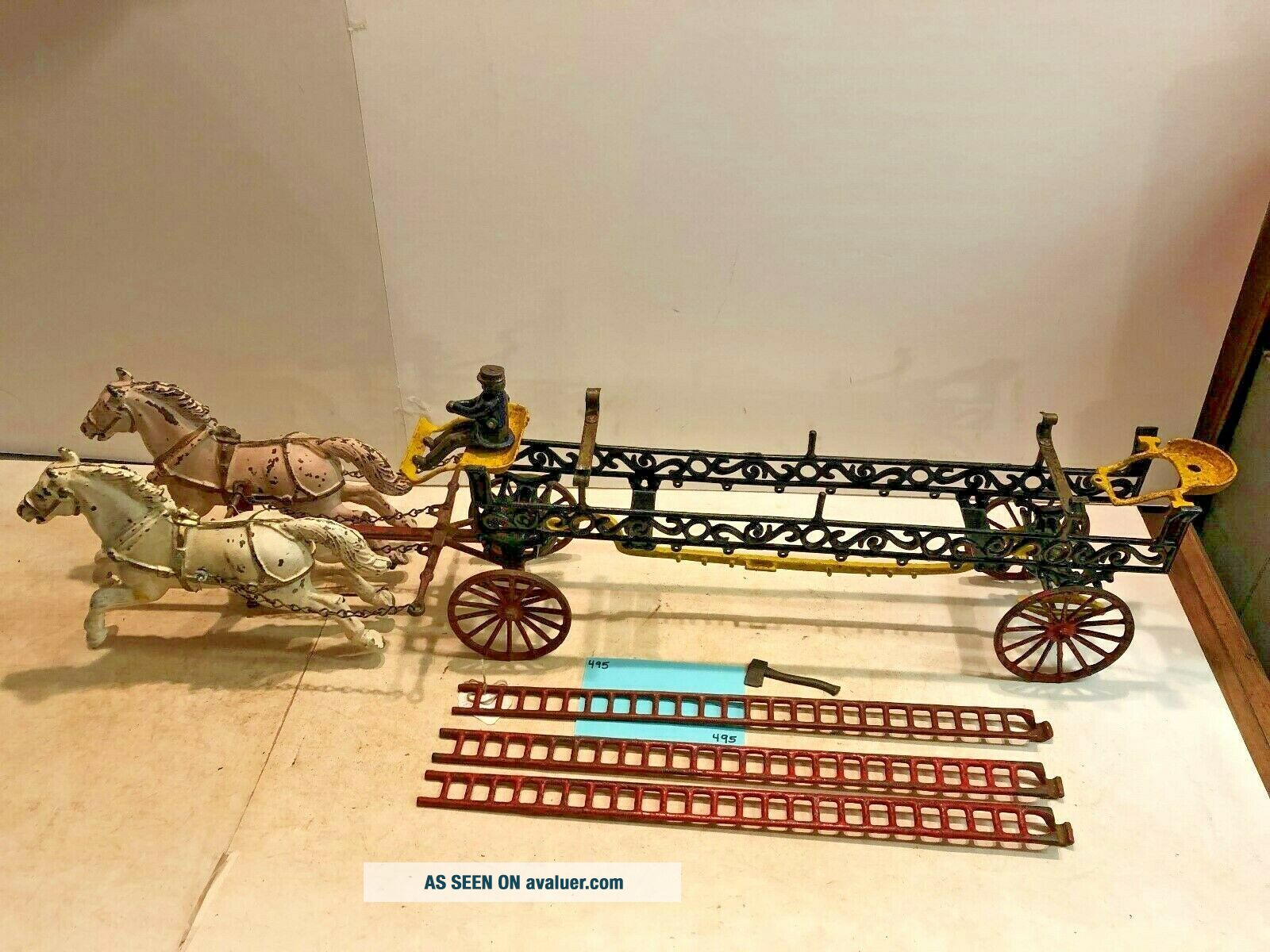 Vintage Toys,  Wilkins Hubley Ives Kenton Parts,  Ives Ladder Wagon,  Cast Iron