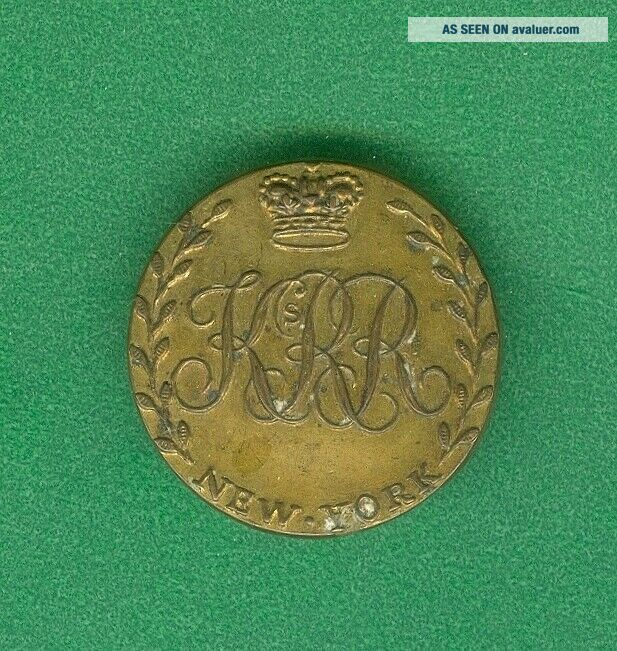King ' s Royal Regiment of York Button Yorkers Loyalist