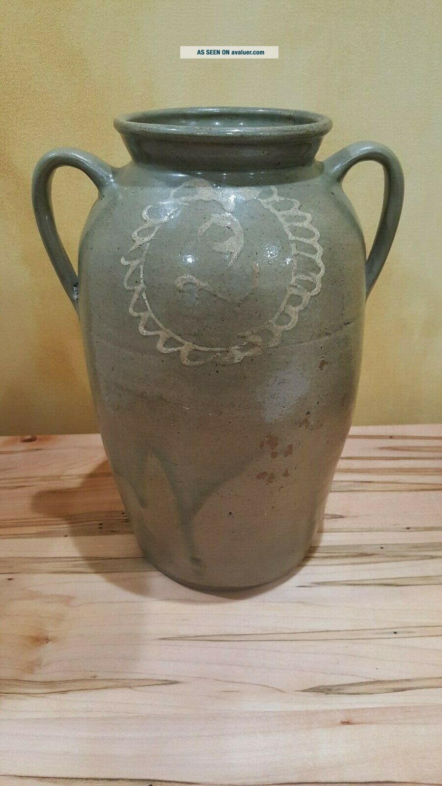 Edgefield Thomas Chandler decorated Southern stoneware