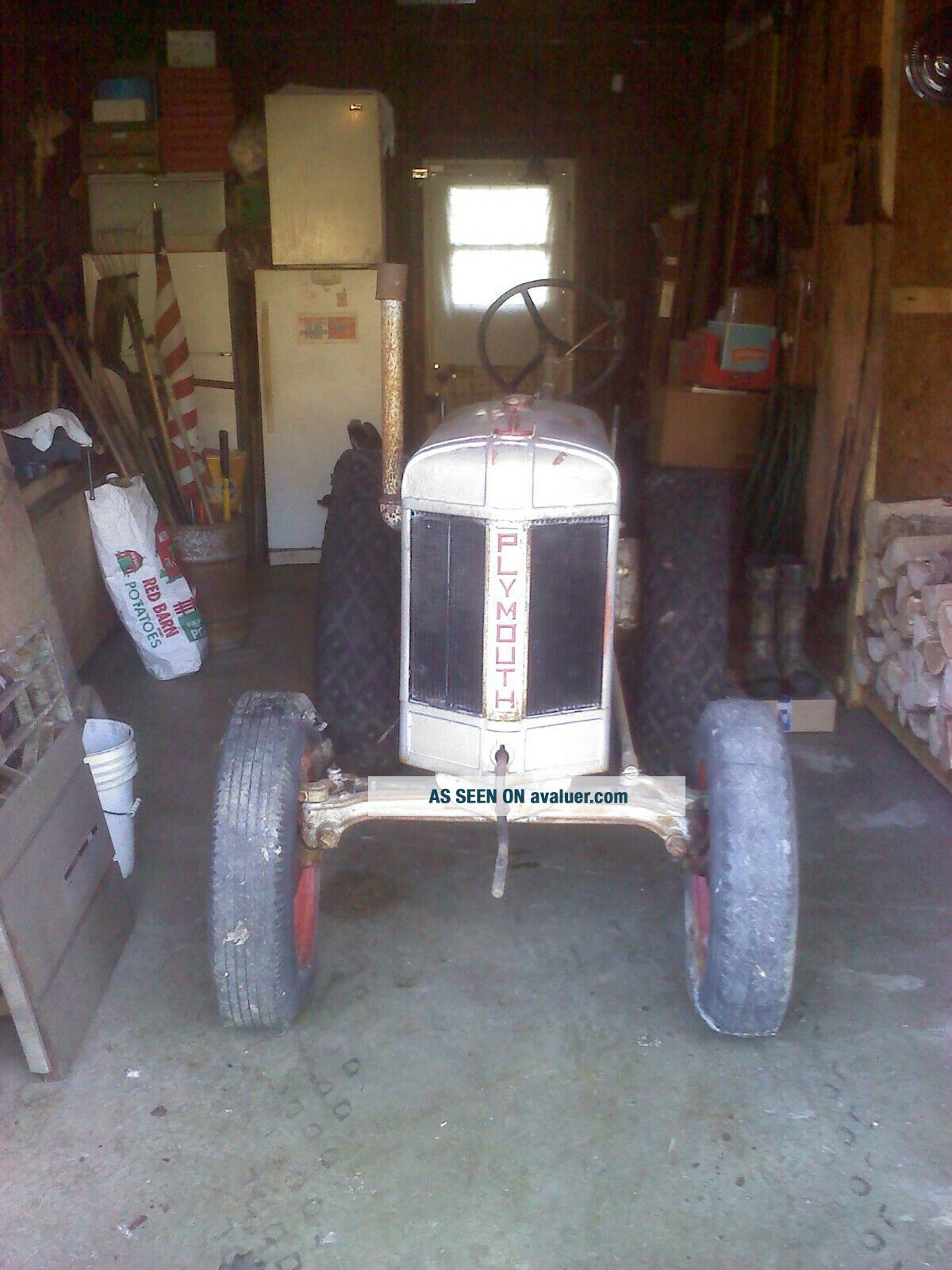 1934 PLYMOUTH Tractor Silver King,  Fate - Root - Heath Plymouth,  Ohio - RARE