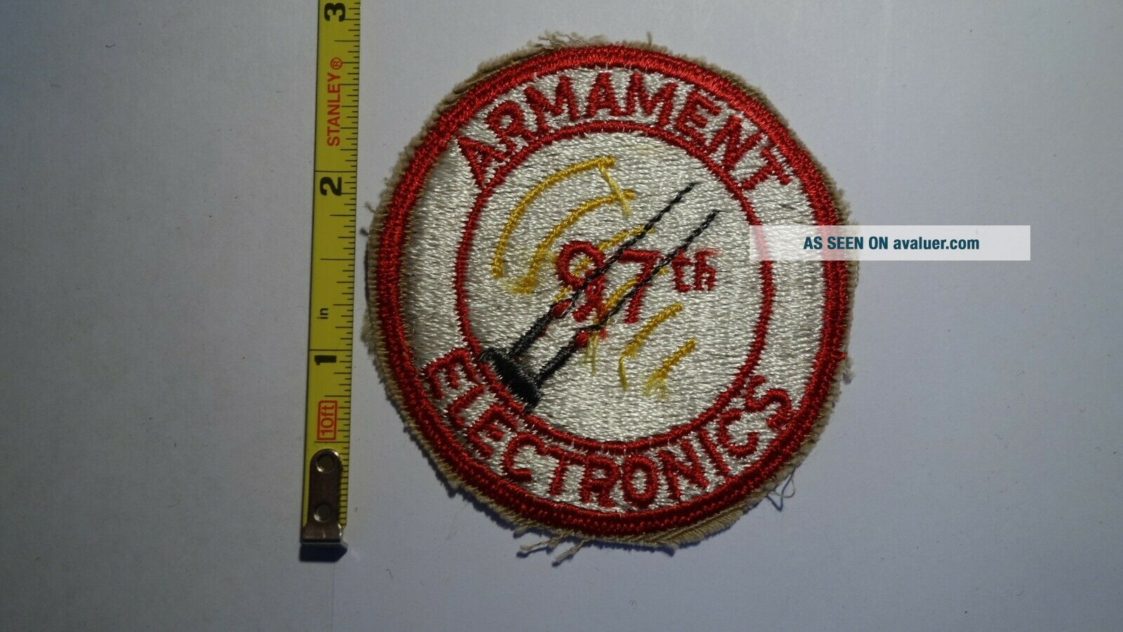 Extremely Rare 1950 ' s USAF 97th Armament & Electronics Patch.  RARE VARIANT
