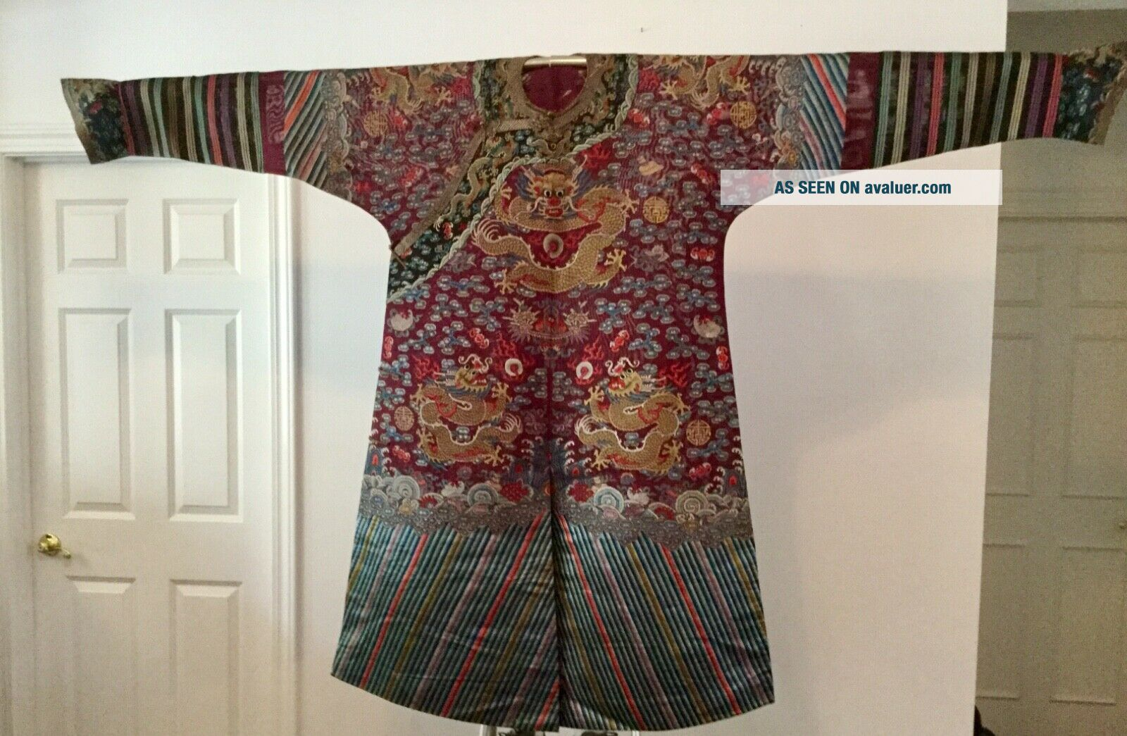 Embroidered Chinese Qing Dynasty Robe,