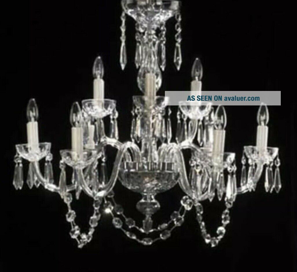 WATERFORD CRYSTAL LISMORE 9 - ARM CHANDELIER