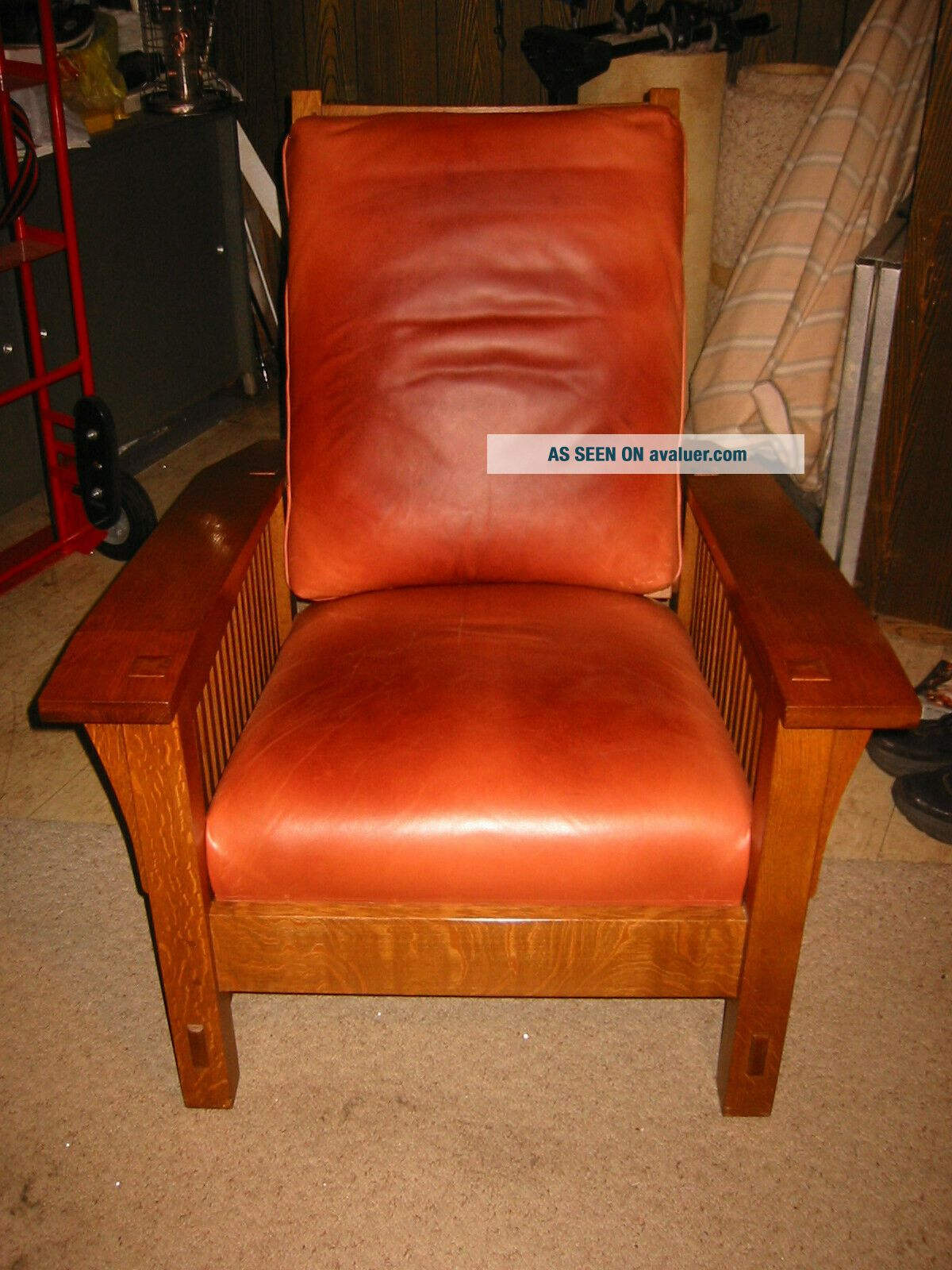 STICKLEY Spindle Morris Chair - Adjustable Back - Oak - with matching Ottoman