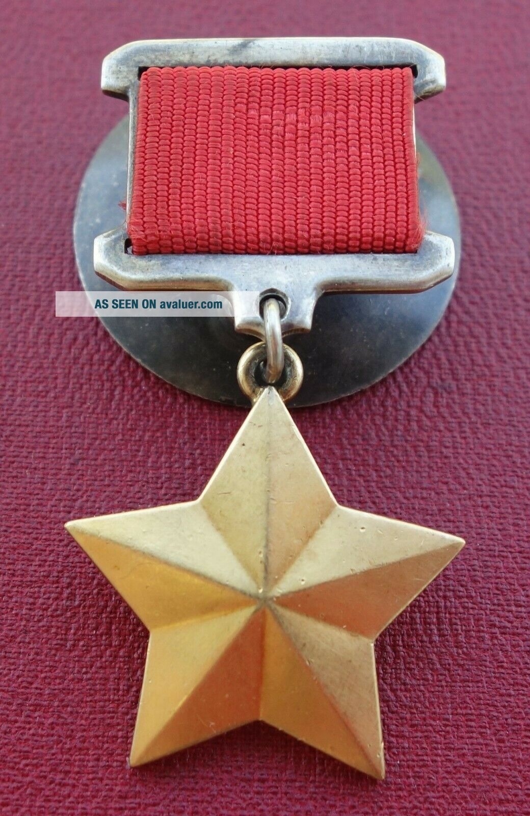 Russian USSR order medal Hero of the Soviet Union gold star