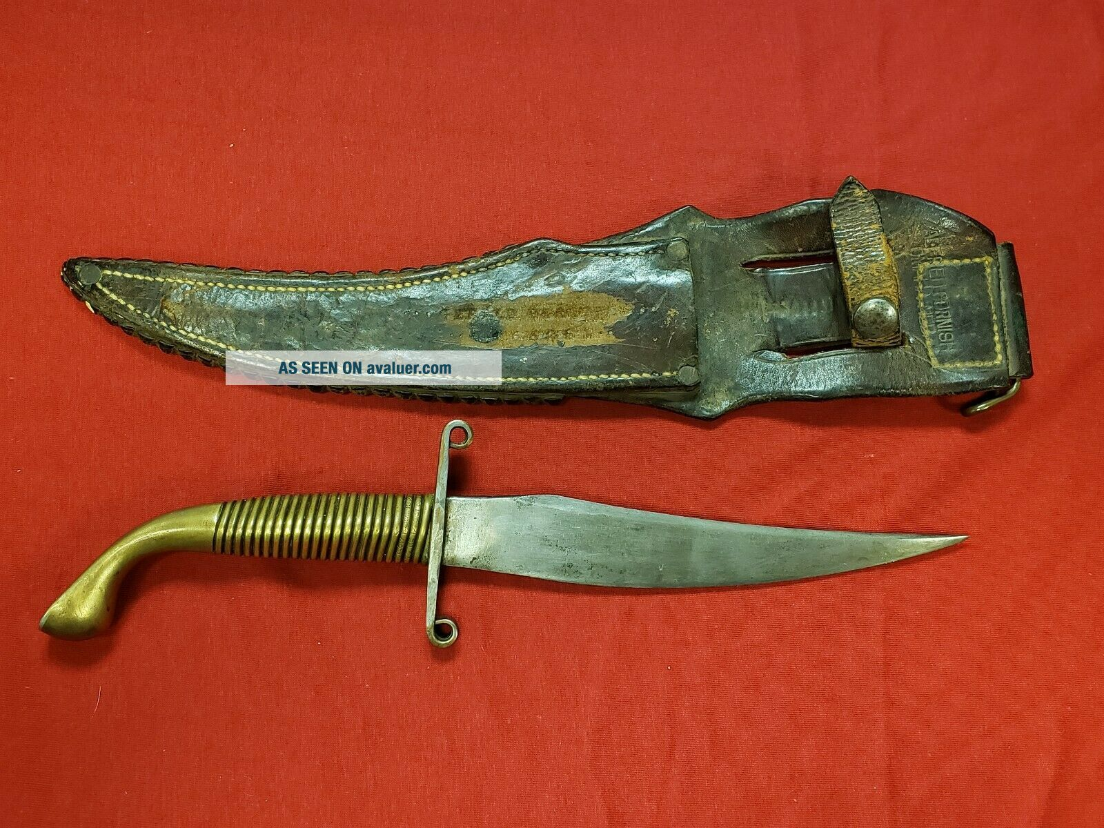 RARE Early Issue Nichols WW2 Fighting Knife With Scabbard