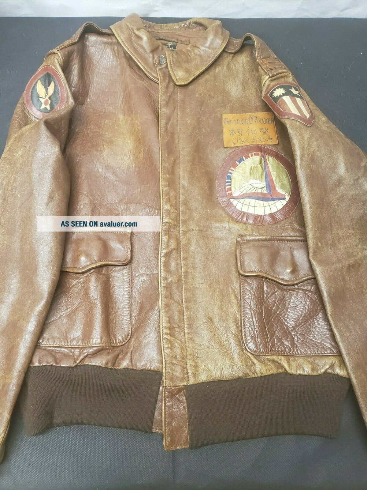 WWII A - 2 Jacket with Insignia CBI