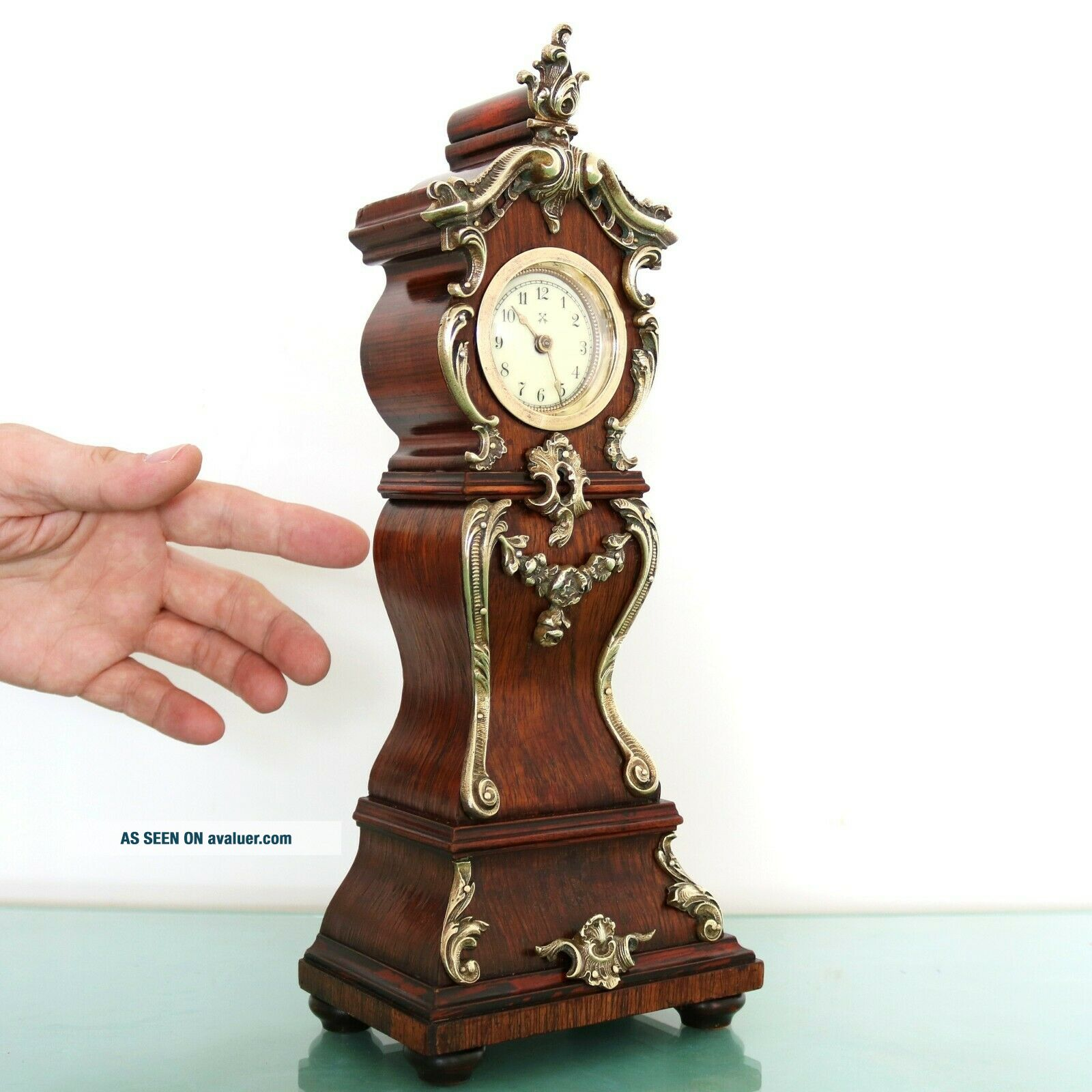 JUNGHANS PFEILKREUZ Mantel Clock Antique BABY MINI Grandfathers EXTREMELY RARE