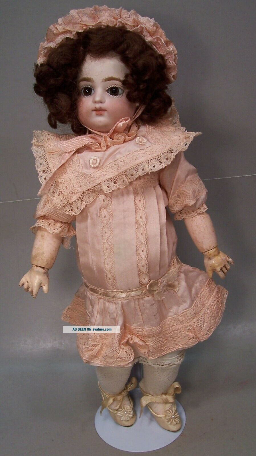 Antique 13 1/2 inch Block Letter F.  Gaultier French Doll