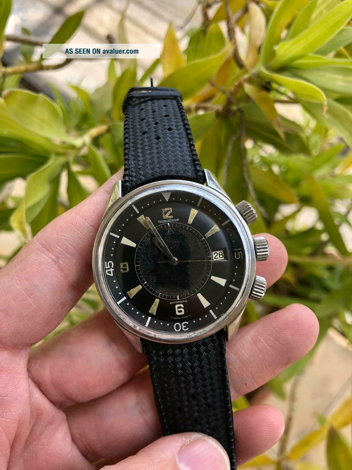 EXTRIMLY RARE 1968 JAEGER LECOULTRE POLARIS E859 MEMOVOX 42MM Men ' s Watch