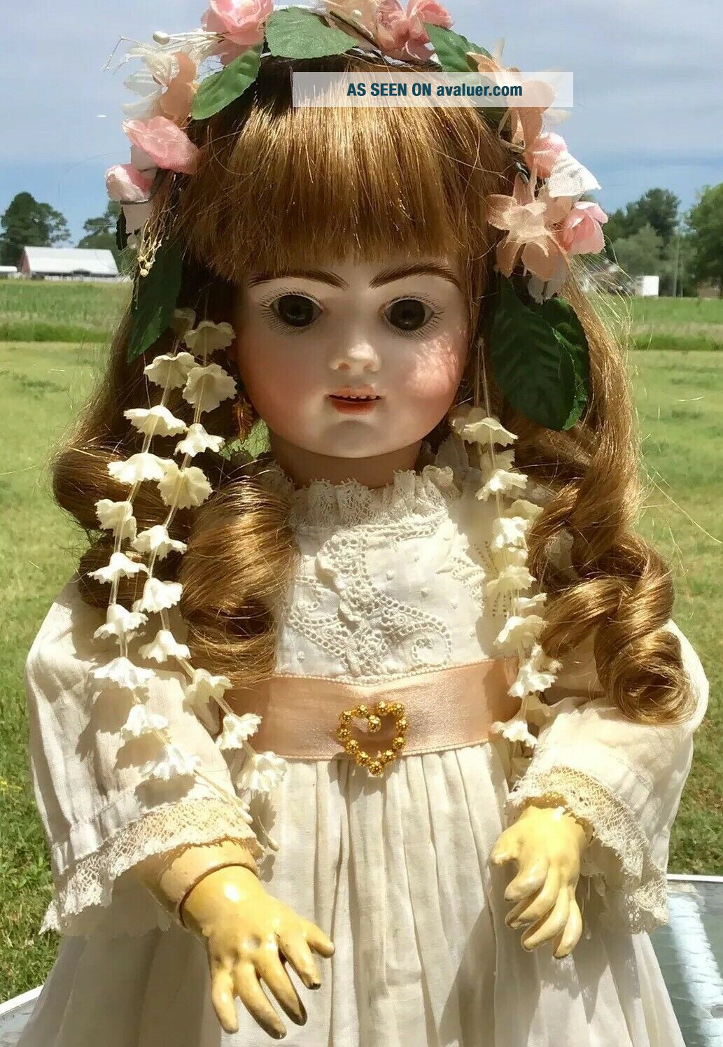 French Antique Doll Bru Jne R 8 Doll Antique Clothes And Shoes Apx 19 Inch