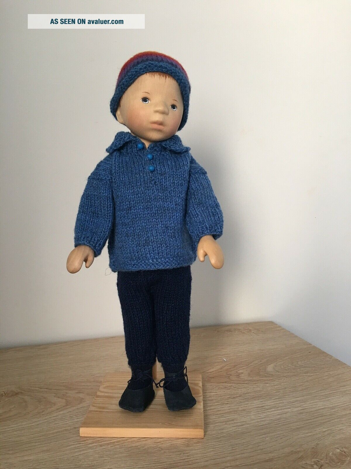 RELISTED: Handcrafted wooden doll by Elisabeth Pongratz