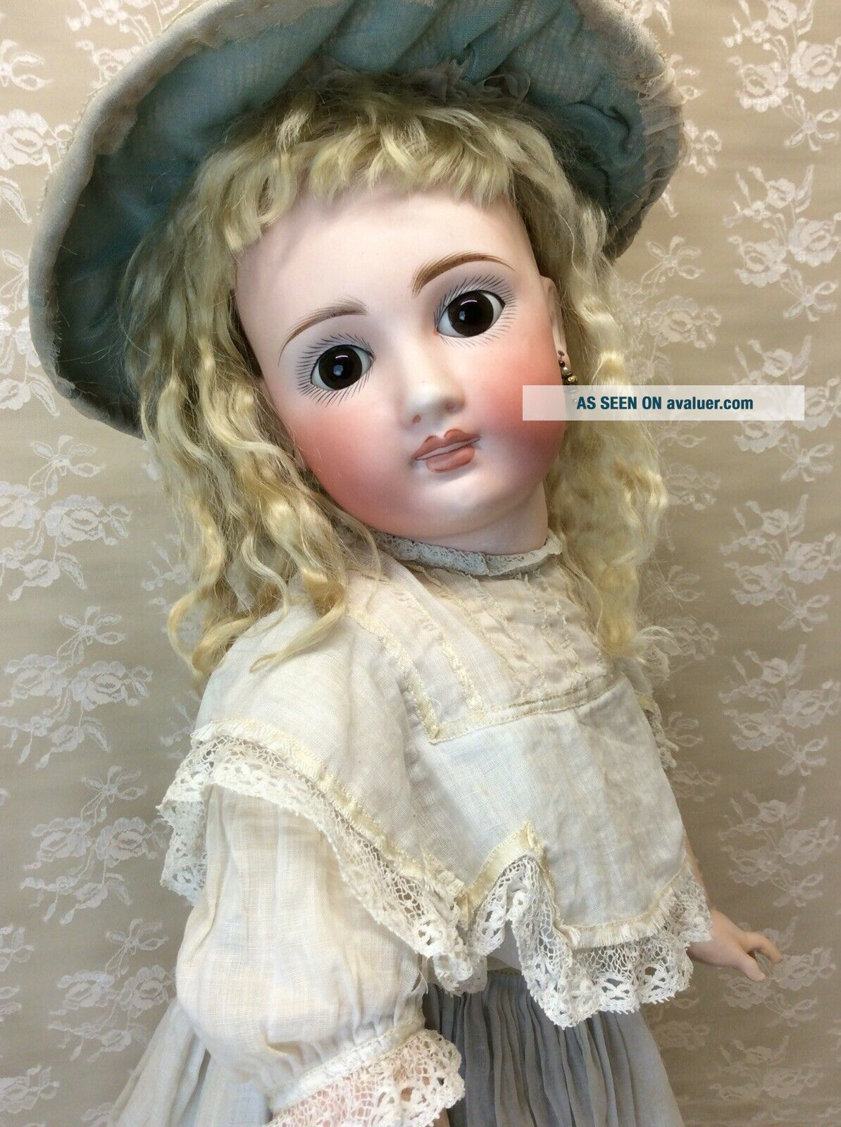 "Antique 22"" Sonneberg For French Market Bisque Doll"
