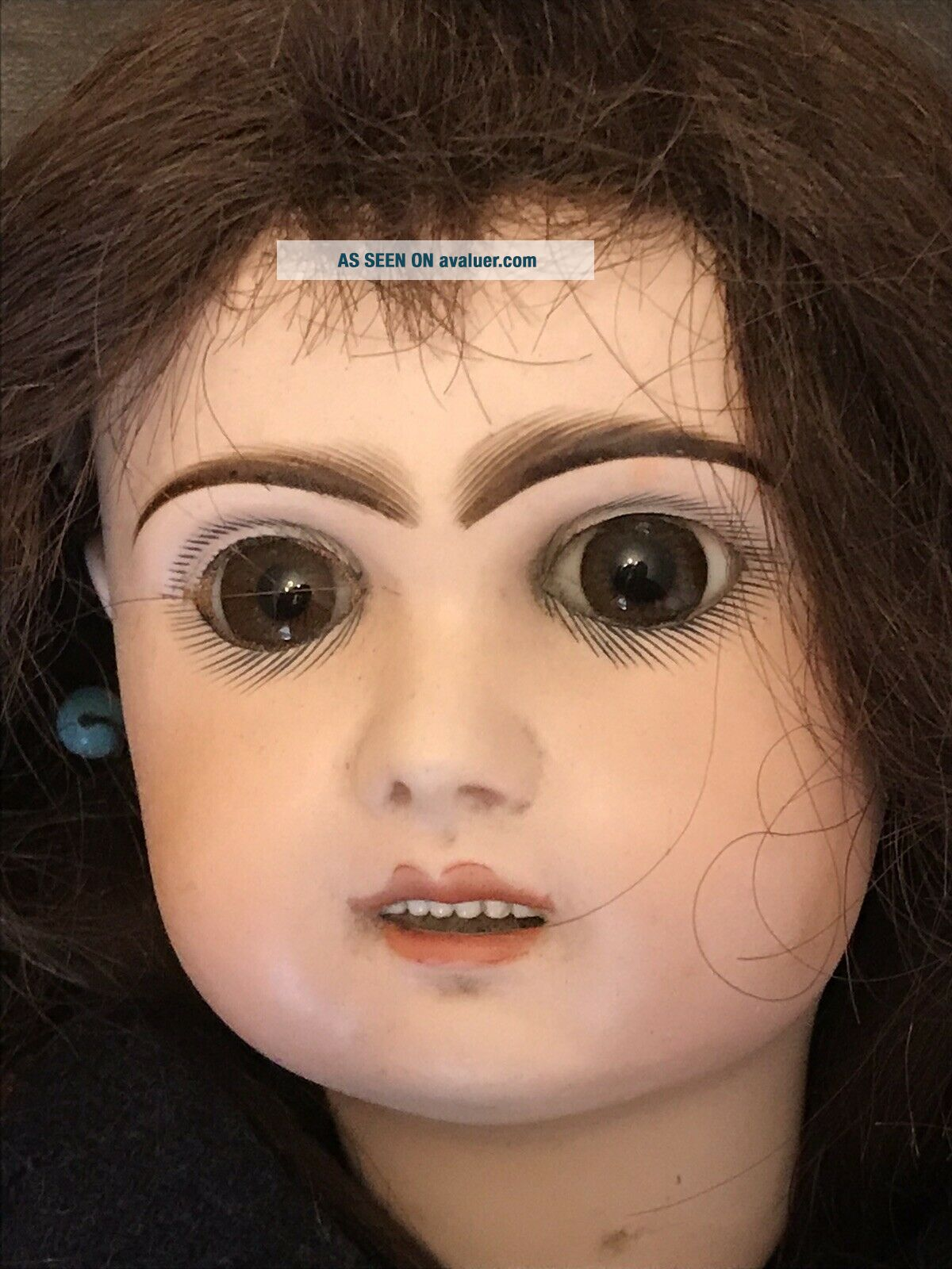 """Antique French BeBe doll from estate paperweight eyes– 22"""" (NR)"""