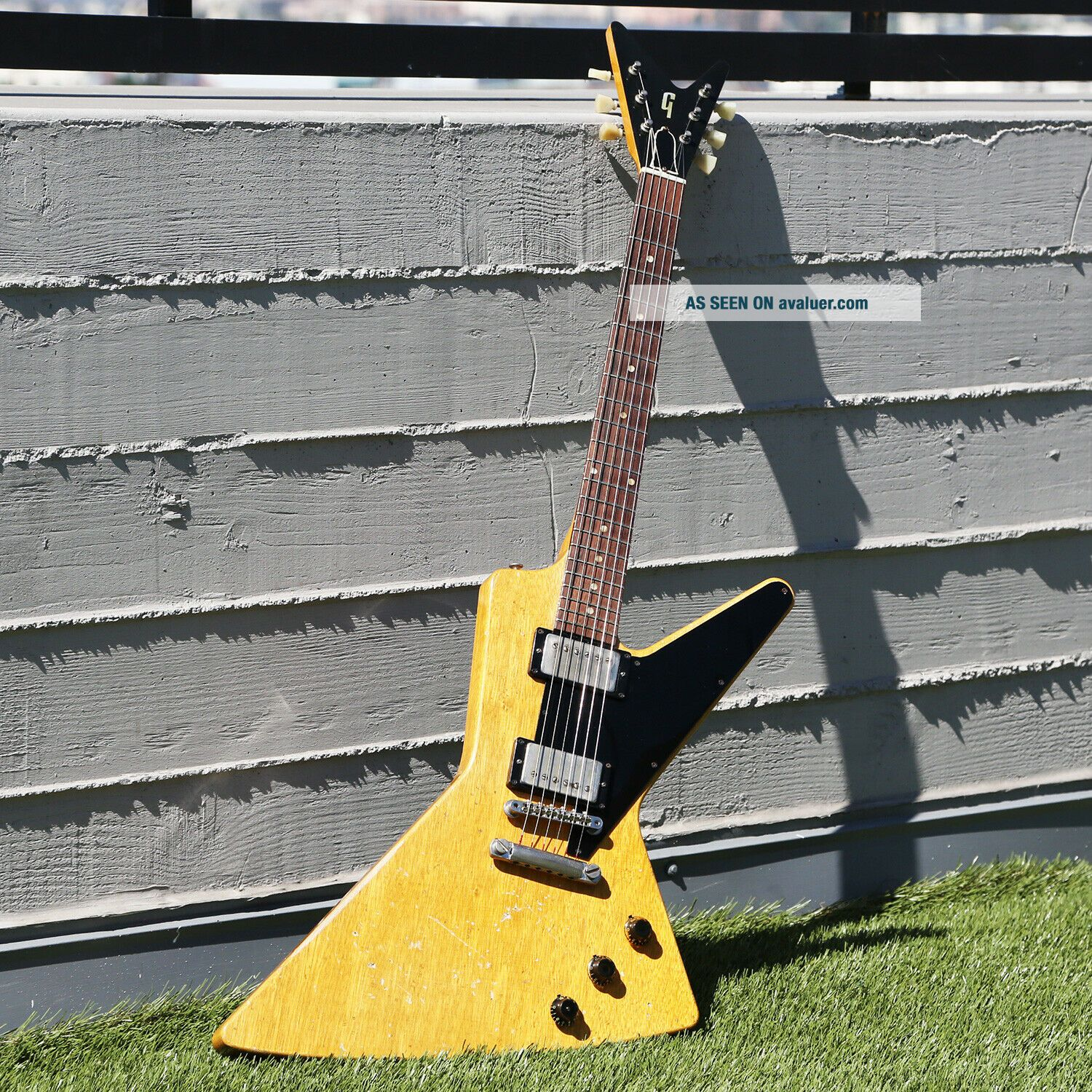 1958 GIBSON FUTURA VINTAGE KORINA EXPLORER PROTOTYPE ELECTRIC GUITAR with PAFS