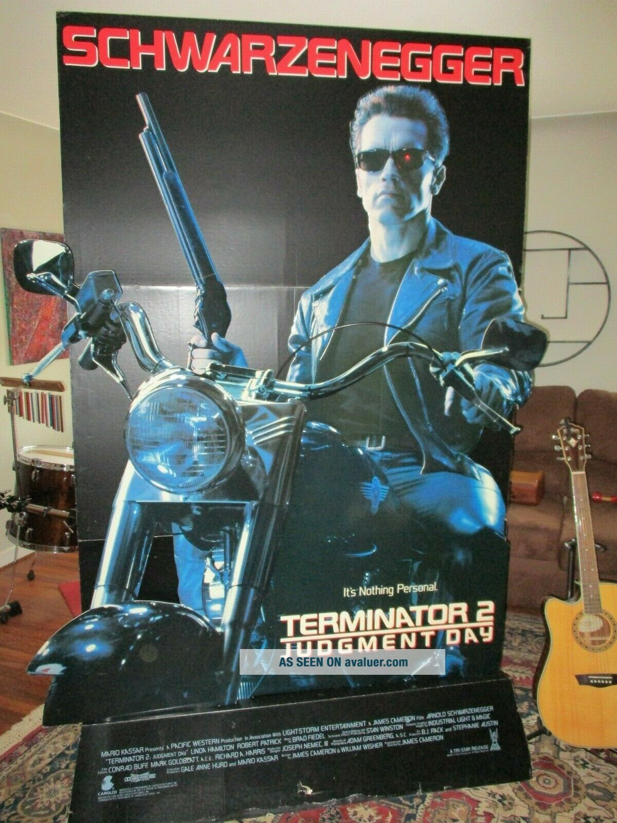 TERMINATOR 2 LIFE SIZE STANDEE.  7 FT.  TALL 3 DIMENSIONAL COOL & VERY RARE.