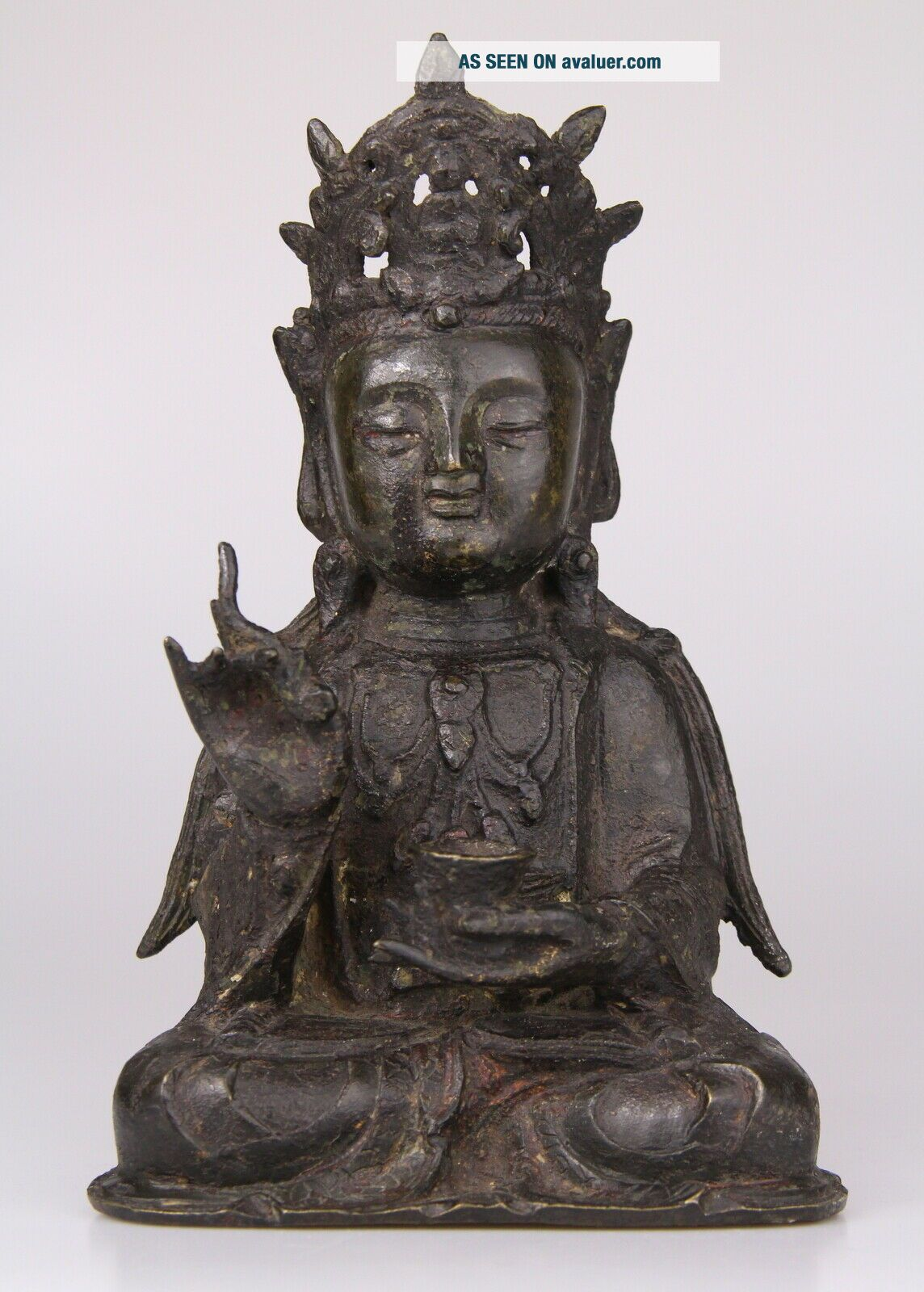Antique Chinese Bronze Buddha Statue Ming Dynasty 16th 17th C.
