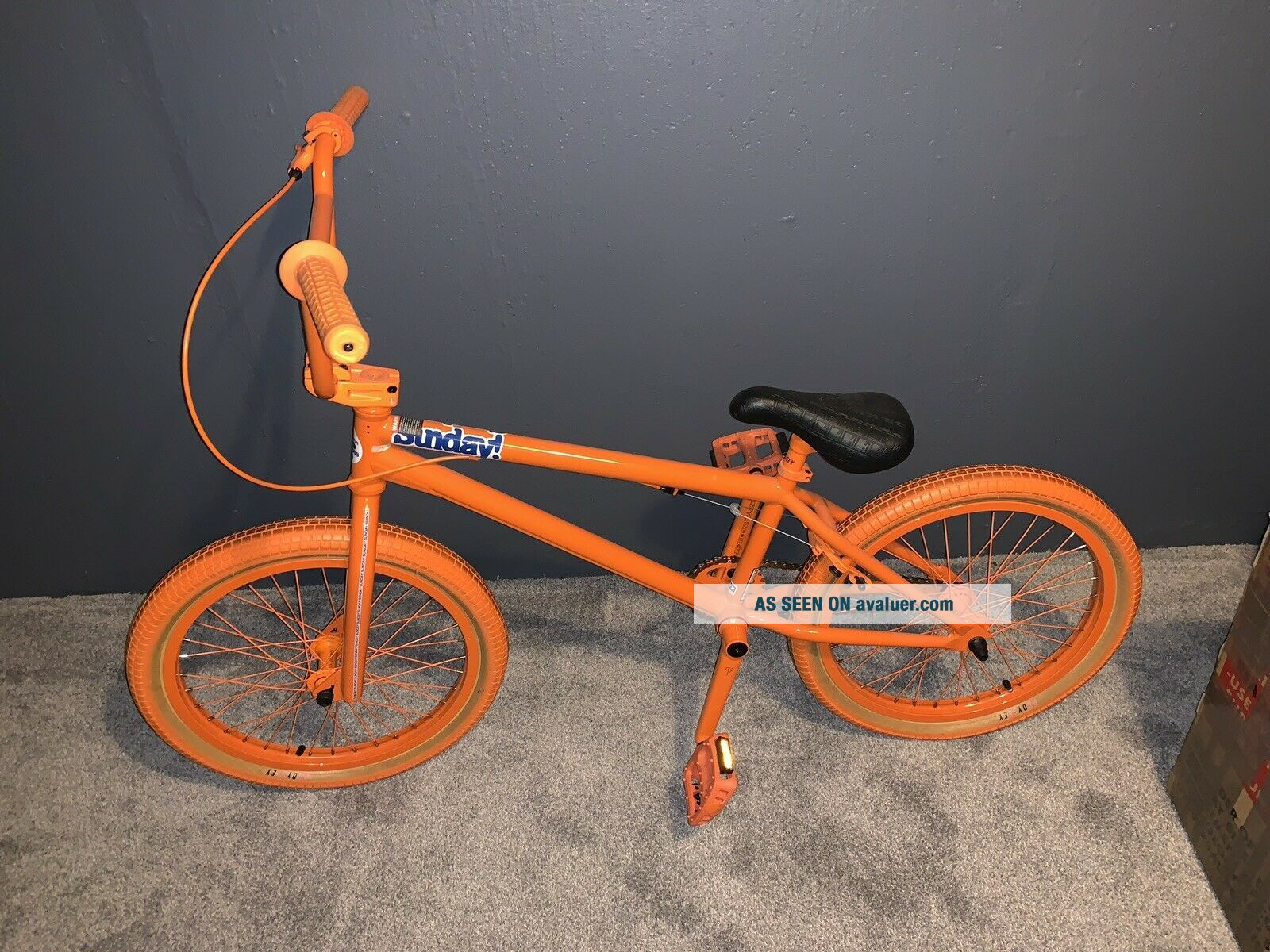 2012 Sunday Aaron Ross Orange Soda Bonus Bike Minty Rare Bmx