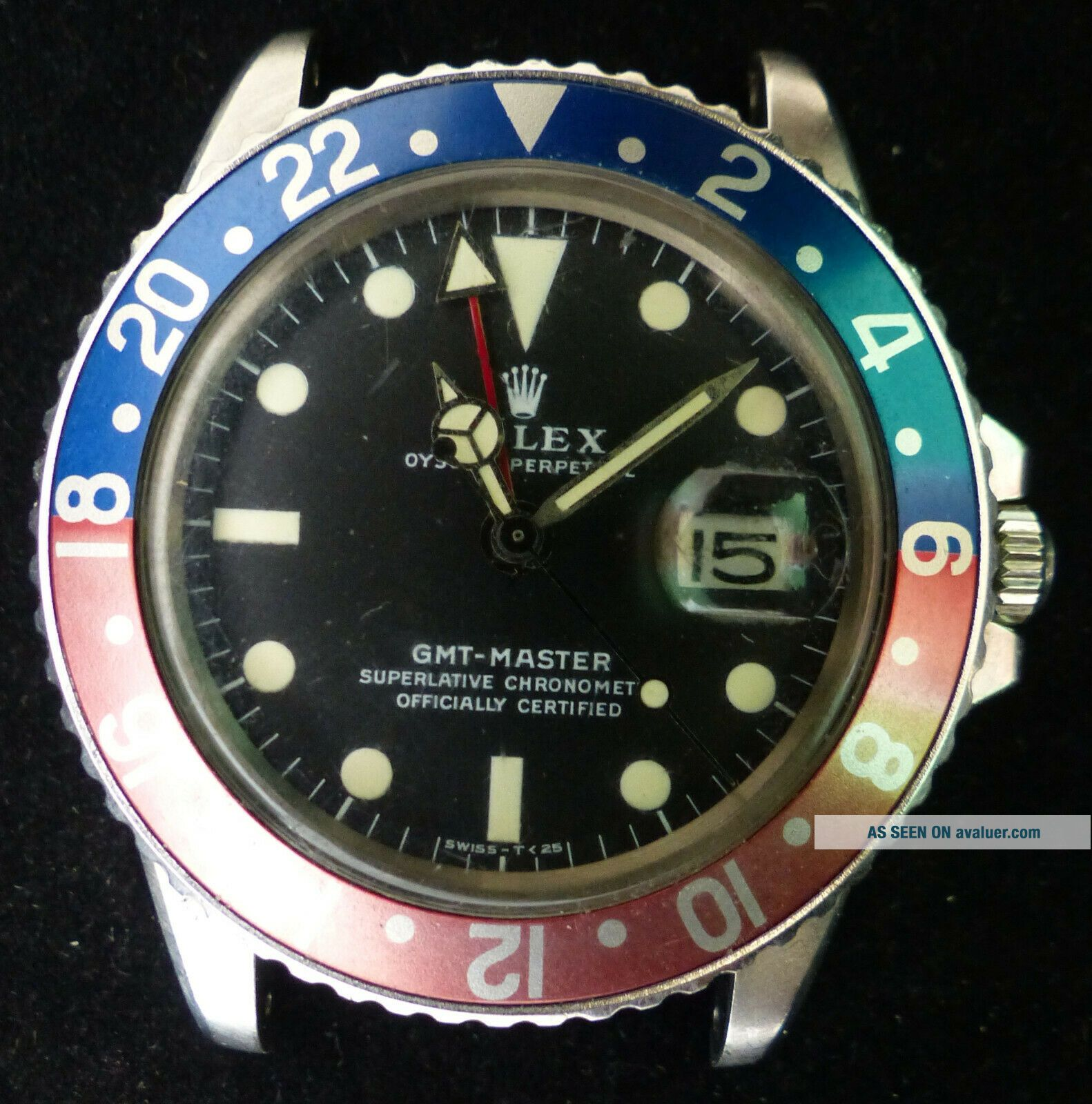 VINTAGE ROLEX GMT - MASTER AUTOMATIC MEN WATCH REF.  1675