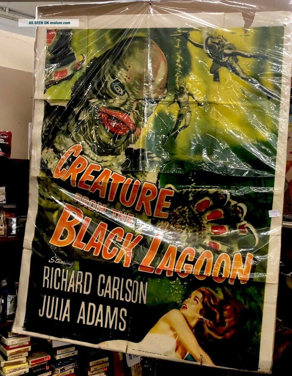 CREATURE FROM THE BLACK LAGOON CARLSON ADAMS - LARGE MOVIE POSTER Rare