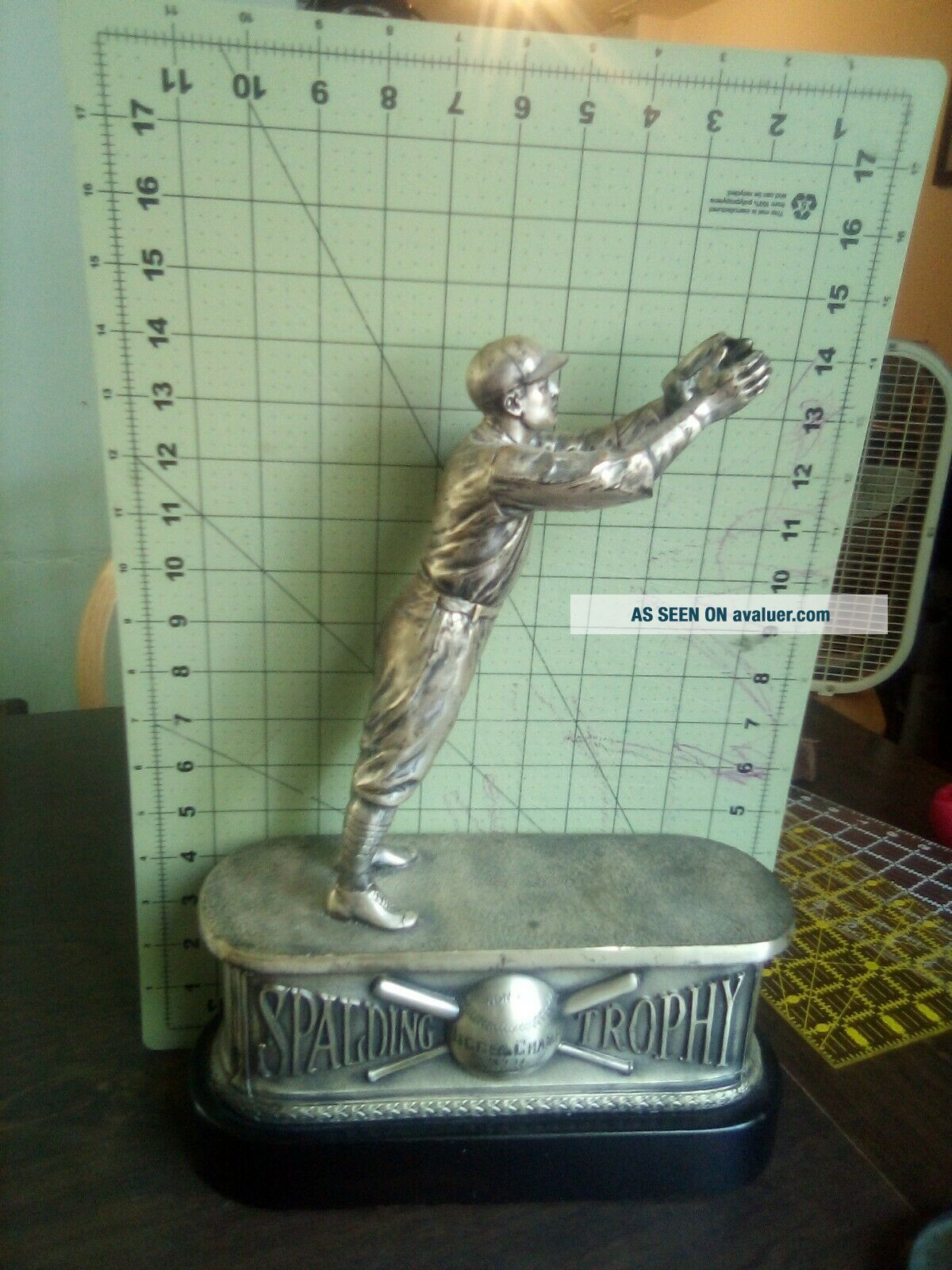 1931 Spalding Metal Vintage Baseball Trophy Jigger Champ Syracuse University?