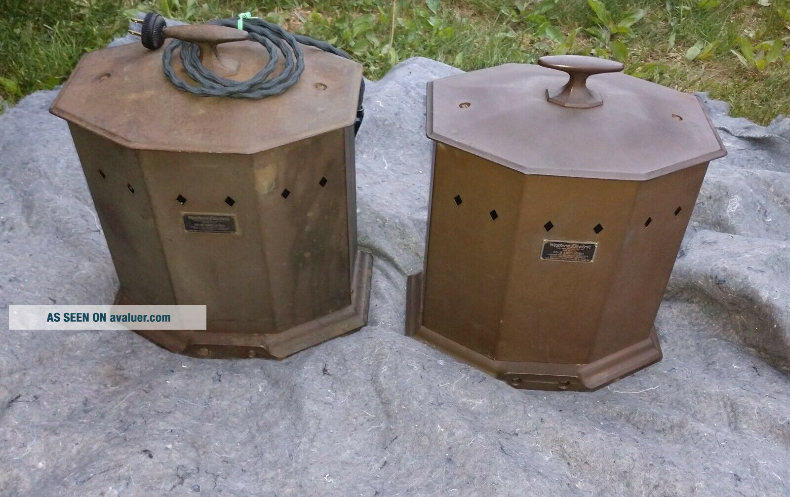 RARE MATCHING PAIR WESTERN ELECTRIC 25B AMPLIFIER USE 205D TUBE 42A,  46A