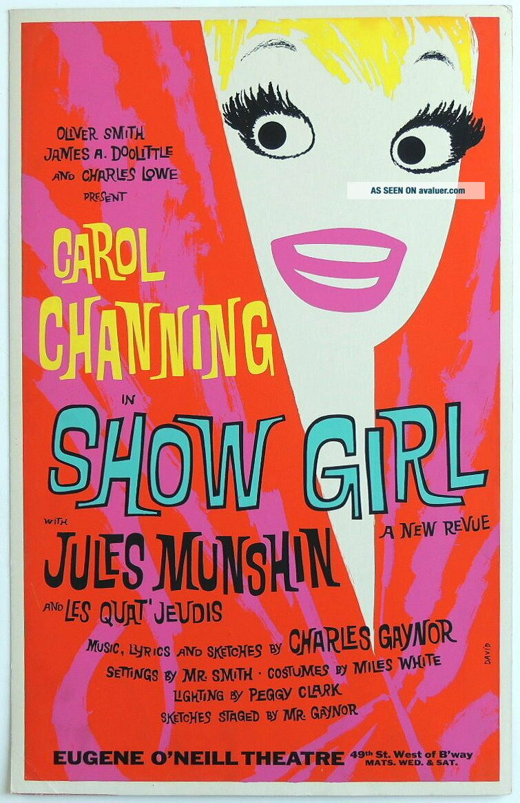TRITON offers rare 1961 Broadway poster SHOW GIRL Carol Channing revue