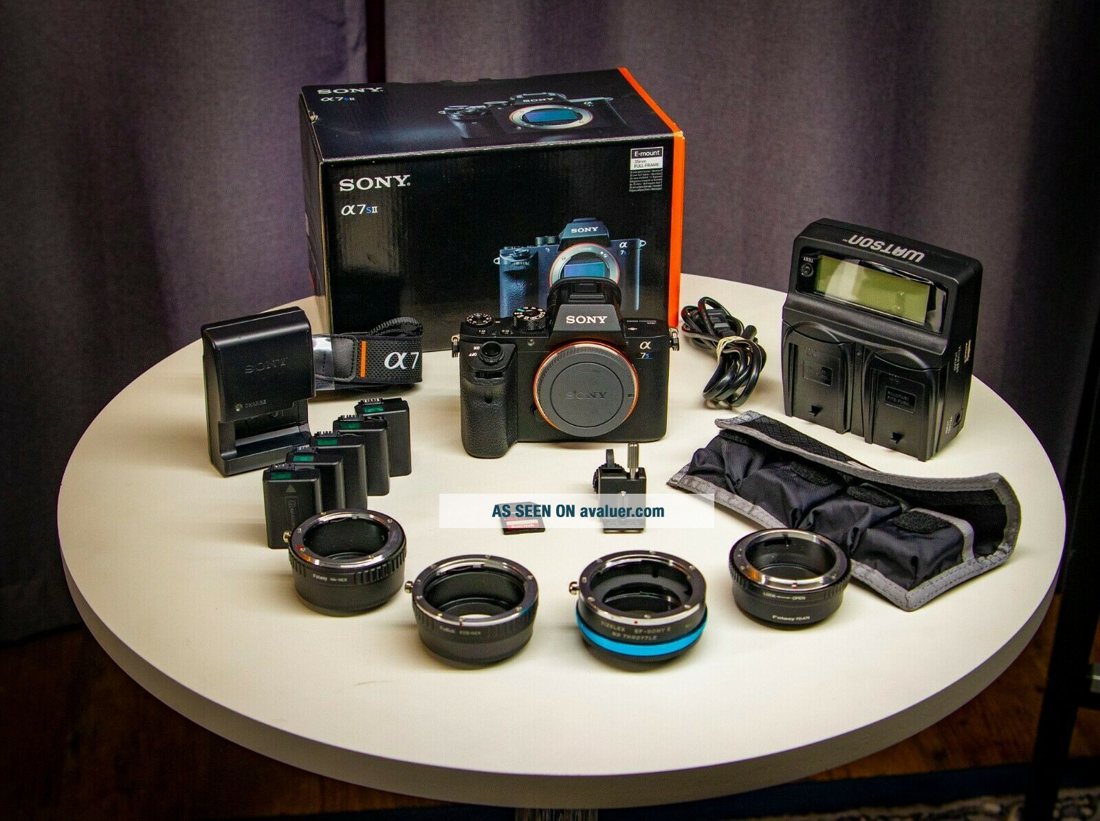 Sony A7S II Camera Package,  Adapters for Canon EF & Vintage FD,  Nikkor Lenses