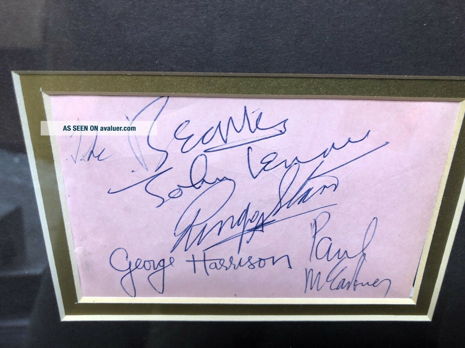 Rare Complete The Beatles Autographs With From JSA Authentic Signed