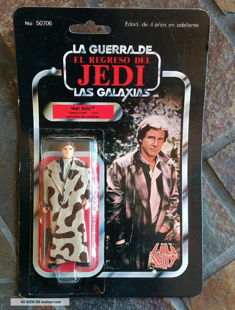 Vintage Han Solo Lili Ledy 50706 with Backing