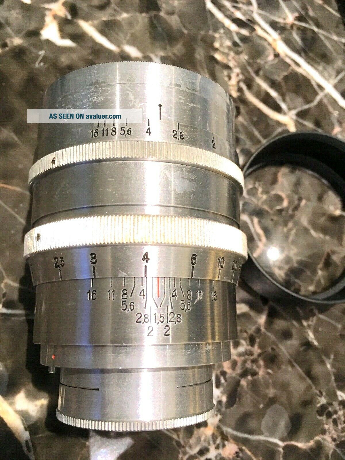 Zeiss Jena Biotar 75mm 7.  5cm F1.  5 Red T First Heavy Version 1942 WW2 RARE