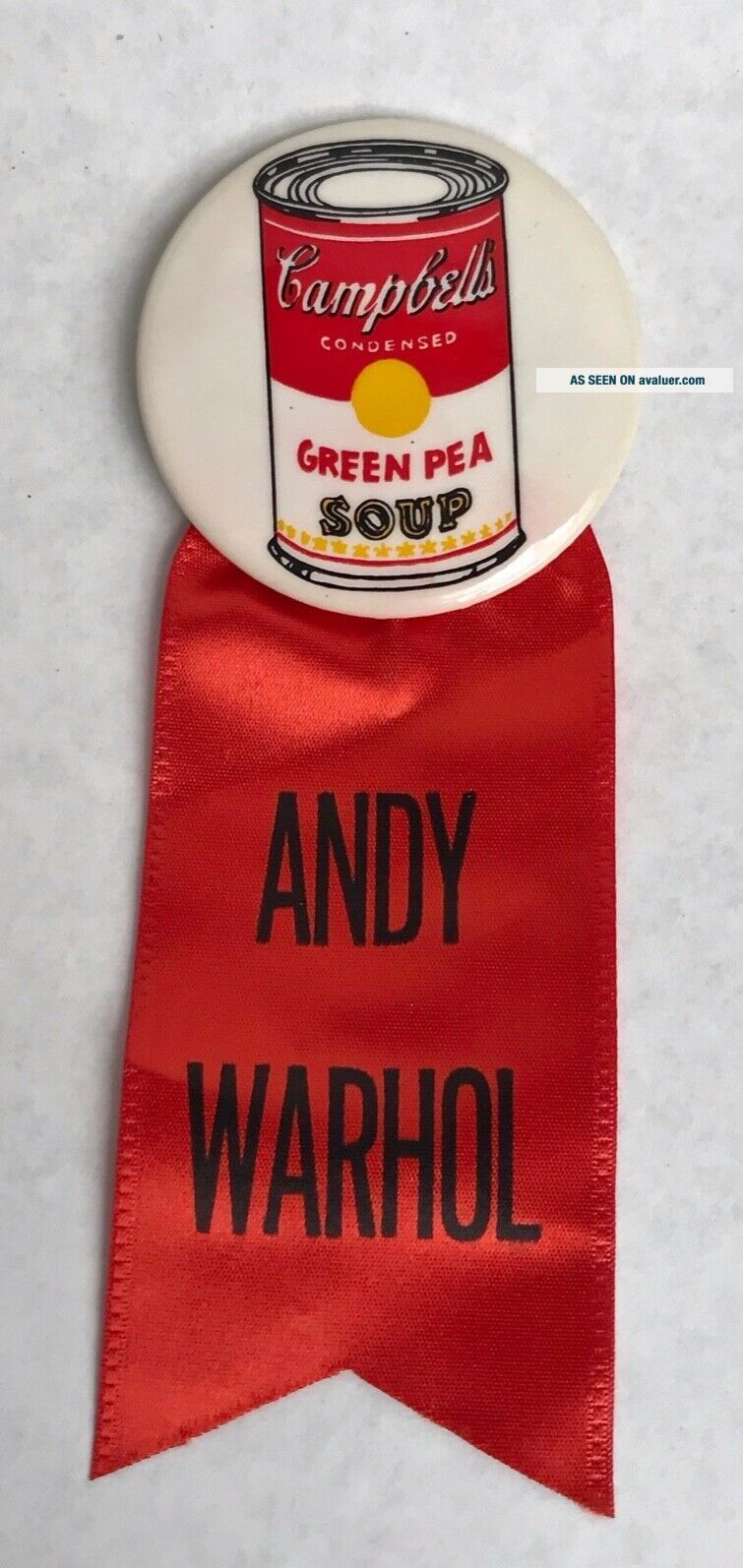 Andy Warhol - RARE - Campbell ' s Soup Can Button - 1962