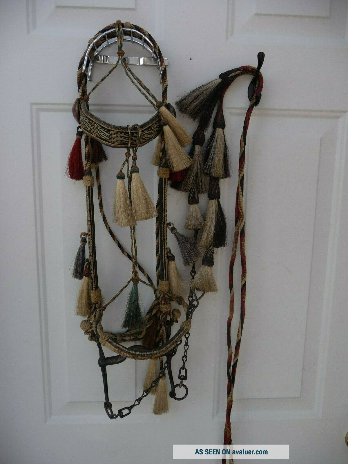 Very Rare Deerlodge Prison Montana Hitched Horse Hair Bridle C - 1880 - 1920