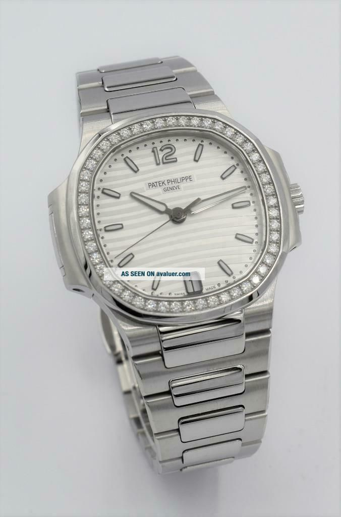 Rare Ladies Steel Diamond Patek Philippe Nautilus Wristwatch Ref 7018/1A - 001