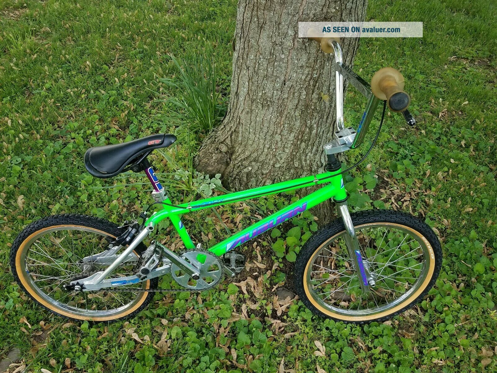 VINTAGE GREEN SILVER AUBURN CR - 20RX 1994 OWNER BMX FREESTYLE RACING