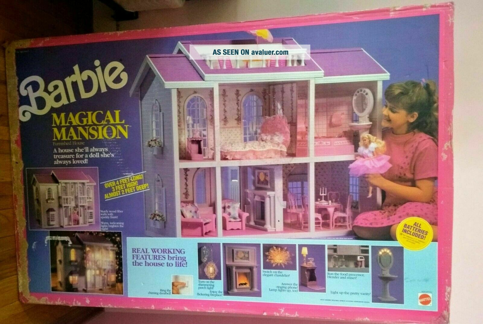 Barbie Magical Mansion 1990 RARE Brand.  Will Now Ship In The U.  S.