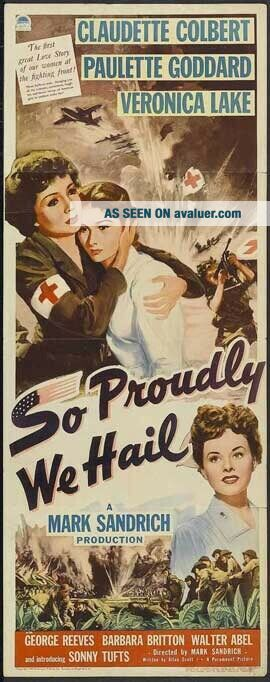 16mm So Proudly We Hail Feature Movie Vintage 1943 Film WW2 Action