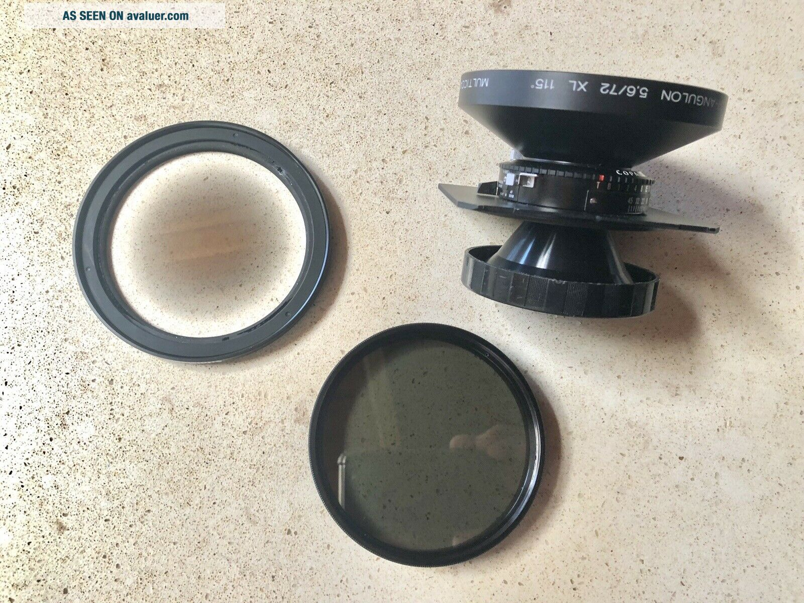 Schneider 72mm F5.  6 Angulon XL With (Rare) Centre Filter And Polariser