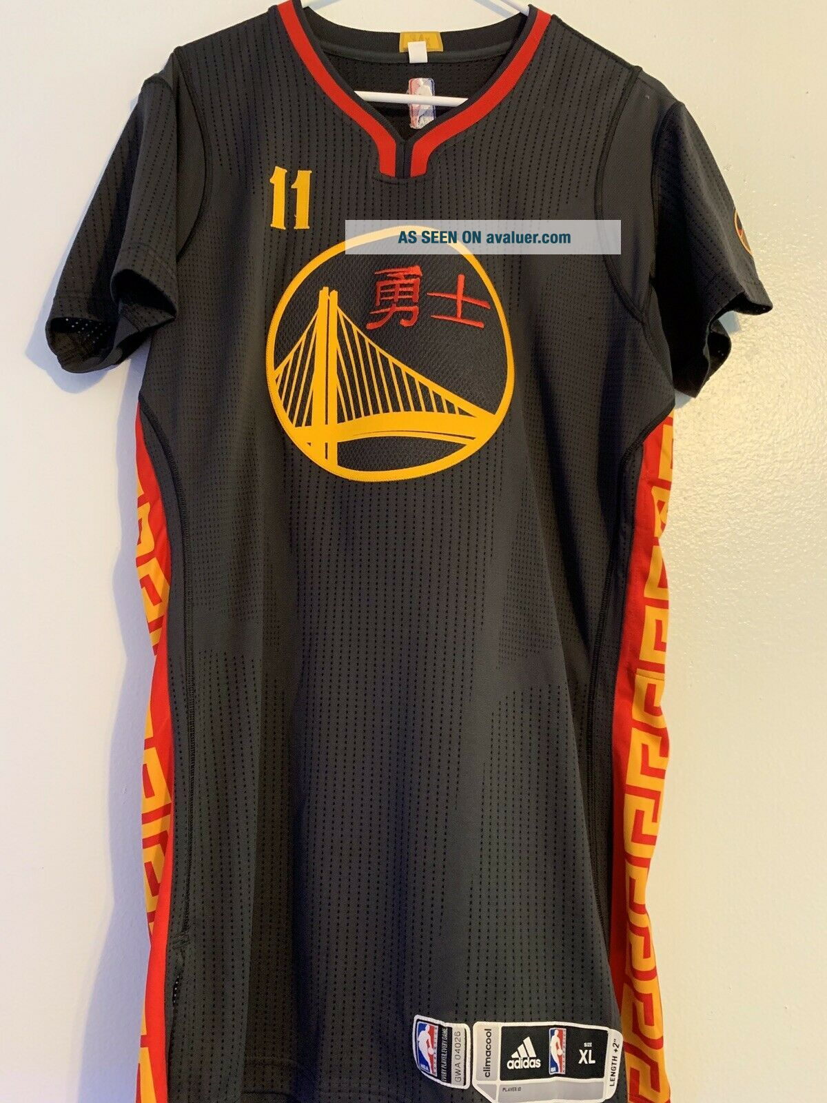 Rare Klay Thompson Warriors Chinese Year Game Worn Jersey Steph Durant