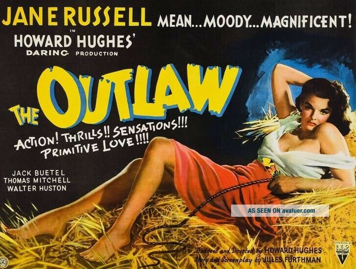 Vintage Movie 16mm THE OUTLAW Feature 1943 Film Adventure Howard Hughes Drama