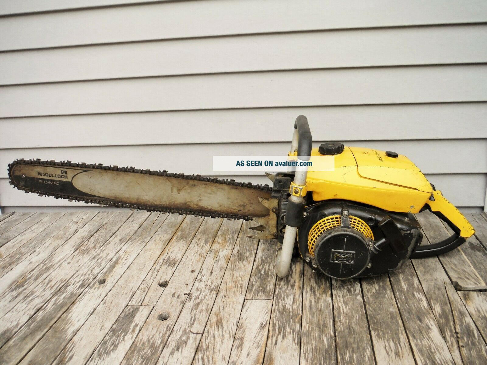 VINTAGE MCCULLOCH PRO 125C SP125 CHAINSAW NR NON - RUNNING