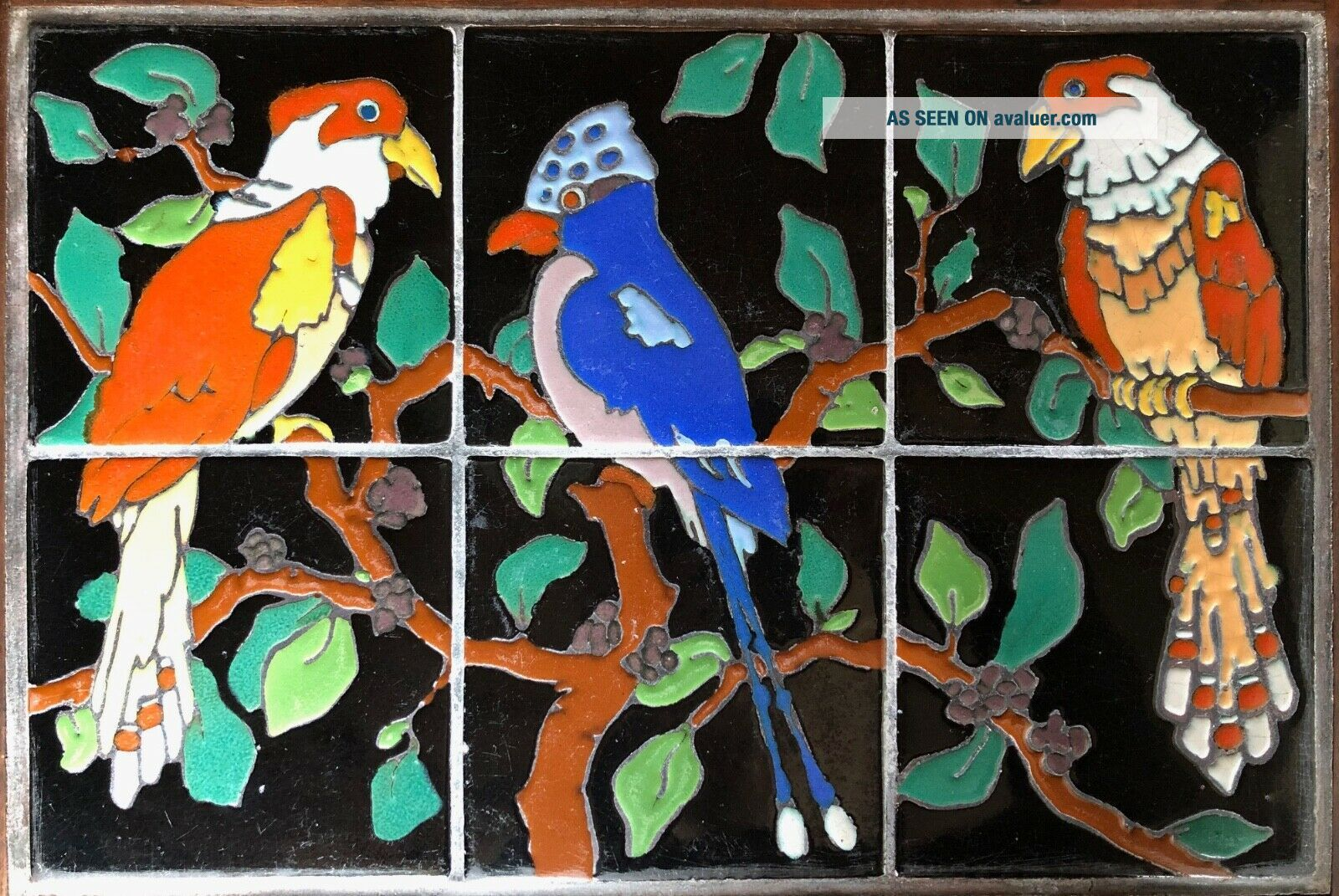 Vintage tiles pottery birds Taylor Arts Crafts Santa Monica Malibu California