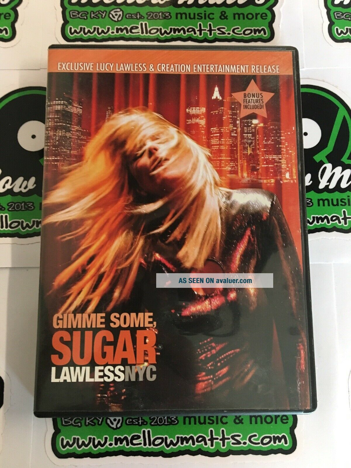 Gimme Some,  Sugar Lucy Lawless NYC DVD Xena Live Concert 2007 RARE OOP NEAR